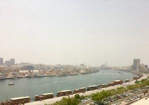 Vistas desde el Bar del Hotel Radisson Blue en el barrio de Deira