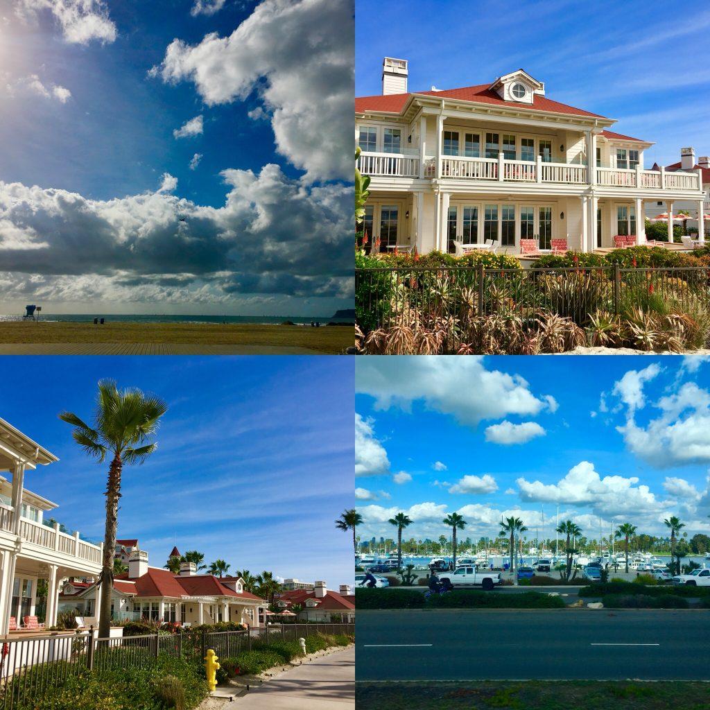 Playa, barrio residencial con apartamentos, hoteles y casas, puerto deportivo
