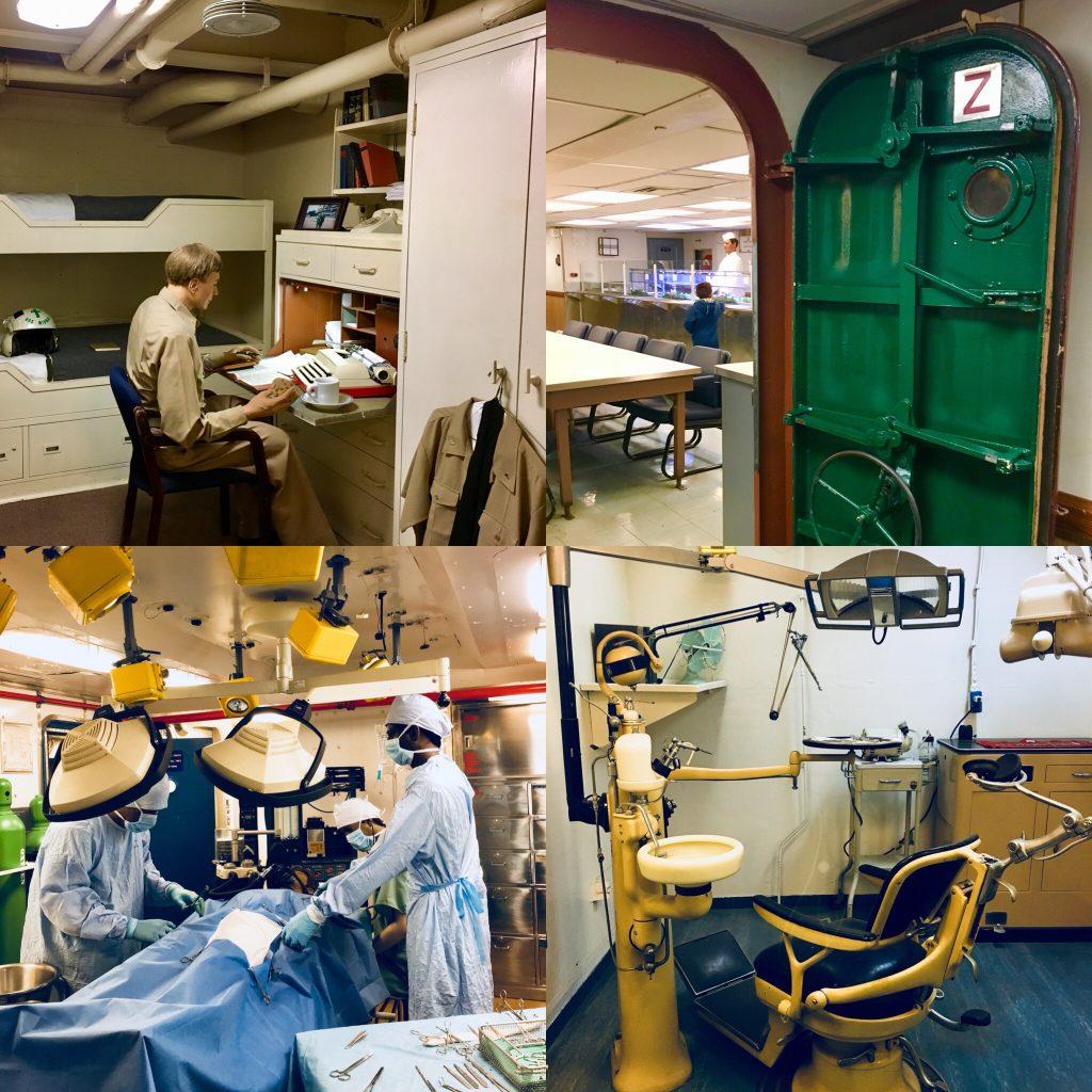 Camarotes, comedores, quirófano y gabinete dental